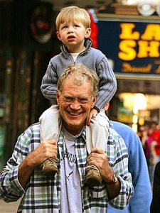Letterman and his boy Harry
