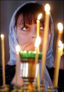 Russian Orthodox Christian at Compline