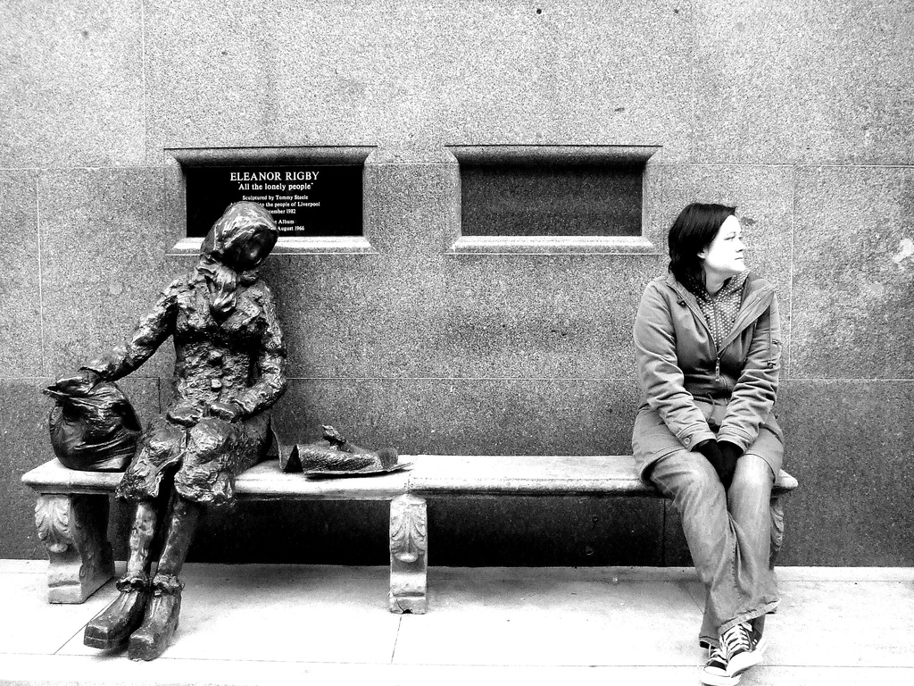 loneliness as the main theme in the poem eleanor rigby