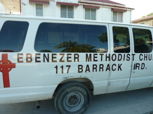 EBENEZER METHODIST CHURCH VAN, A THRIVING CHURCH IN  BELIZE CITY.