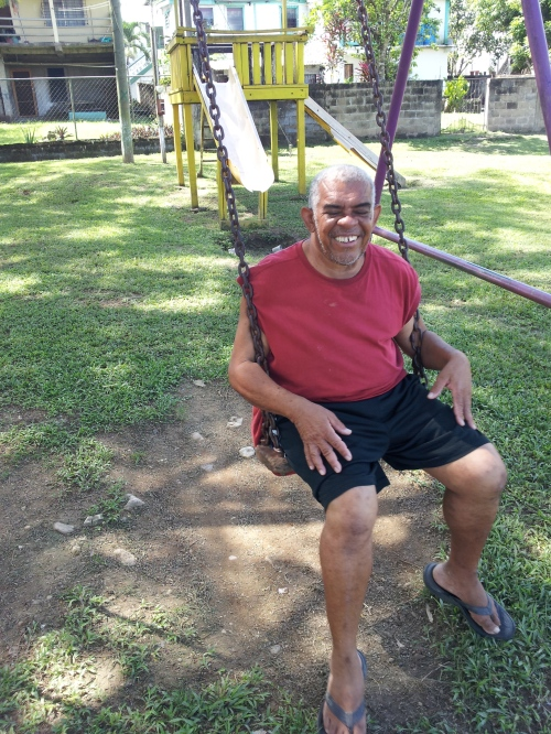 Elmo is one of the sweetest of the town characters in San Ignacio. He lives with his mother, a retired principal, by one of the parks in town. He also ushers and takes up the tithe offerings every Sunday morning at St. Andrews Anglican Church.