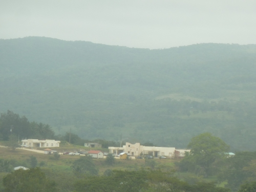 THE WHITE THERE IN THE HAZY-MORN DISTANCE IS SAN IGNACIO HOSPITAL.
