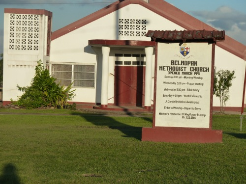 First Methodist in Belmopan, the smallest capital city in the world. (And, unlike most capital cities, surely the most peaceful and laid back.)