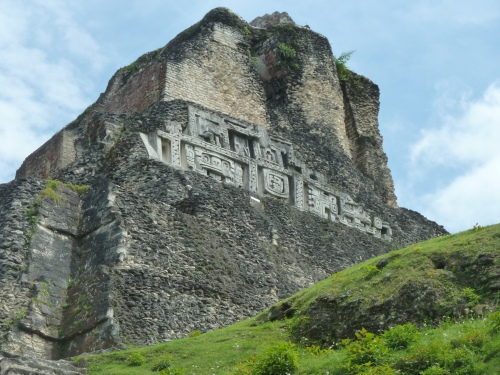 "I like--being living close to ancient Mayan ruins and Mayan culture and because I love learning you can live forever and learn fascinating stuff about that mysterious Mayan civilization, such as it was. They could be a most uncivilized lot toward one another sometimes, one reason for their abrupt demise.  The is ""El Castillo,"" the landmark at Xunantunich in Succotz Village where I lived for six months. Talk about a cool place for long walks . . . ."