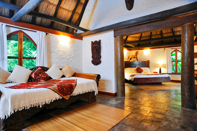 Gorgeous room at the gorgeous Chaa Creek Lodge, one of the world's top-ranked eco resorts. they give back an enormous amount to Belize and her people--including the kids at the summer Eco Kid Camp.