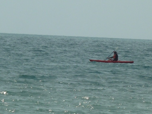 """Things i like: Kayaking out to a caye (key, i.e., island), where it's just me and God and the Holy Spirit and lots of water and fish in the sea below. """"God called the dry land Earth, and the waters that were gathered together he called Seas. And God saw that it was good."""" (Gen. 1: 10)"""