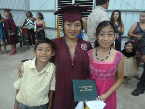Ludy the grad with her beloveds Felix and Stephanie.