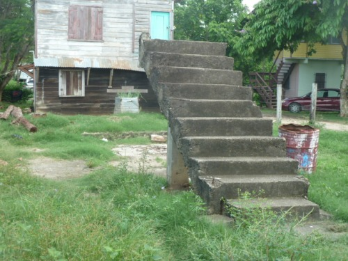 "A stairway to nowhere: Poverty is a hard thing to climb out of without falling over or getting pushed back down and feeling hopeless and full of despair. Not to mention hungry or malnourished. Fortunately, my mother and her family found a church that was the ""safety net"" that a church is supposed to be."
