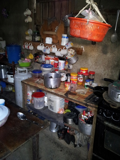 A typical kitchen in a home in the bush.