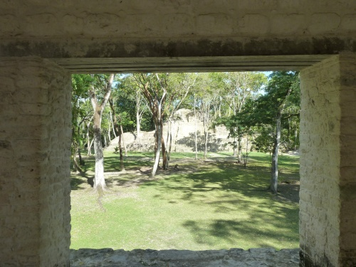 At the Cahal Pech Mayan ruins, some of the most ancient in Belize.