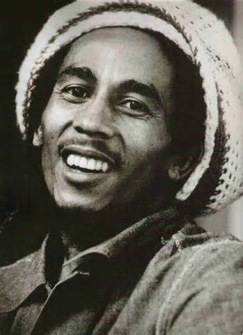 Marley music, Marley posters, paintings, murals--his music and spirit are pervasive here.