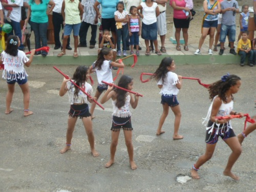 One of the younger dance troupes.