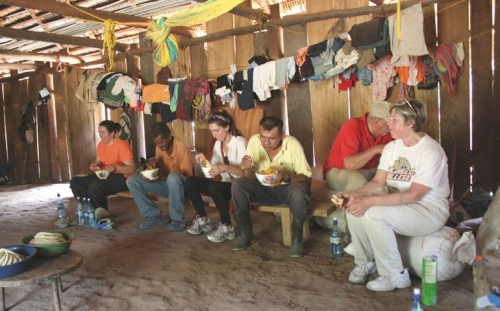 "Catholic college president Nancy Blattner took a group of students to a ""forgotten part of Belize"" to  work and live a while with the poor in building a church. The group ended up building relationships and going back to New Jersey with ""a promise to keep."""