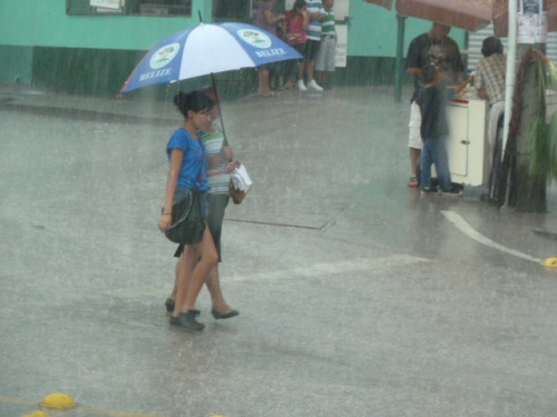 Rain or shine, shopping on market day is a must for many in the San Ignacio/Santa Elena area.