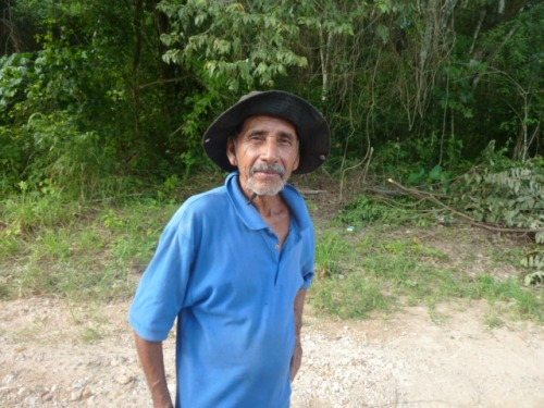 This is Marcos, a farmer in San Antonio who was hitching a ride. I dropped him off near the junction at a farm where he was hoping to buy a John Deere tractor from another farmer. He offered to pay me but something tells me he needed the money more than I do.