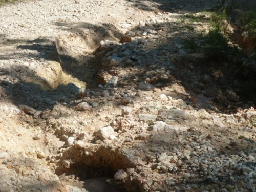 "An alleged ""road"" up in the Barton Creek mountain region. Fortunately my wheels are Dodge Ram Tough."