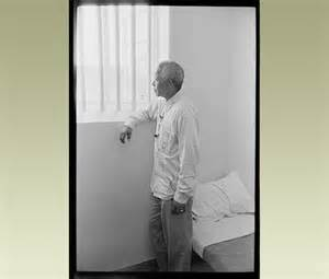 Nelson Mandela on a visit to the  prison cell where he was confined for 27 years--that is a long, long lot of days and nights--and yet he spent them in peace because he forgave his enemies and grew to believe in the transforming power of radical love.