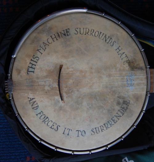 Pete Seeger's banjo.