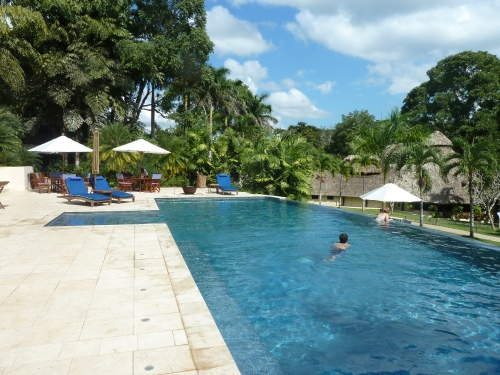 One of the pools at Chaa Creek Eco Resort near San Ignacio.
