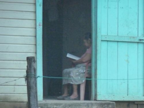 Still Life With Woman Reading Bible, San Jose Succotz Village.