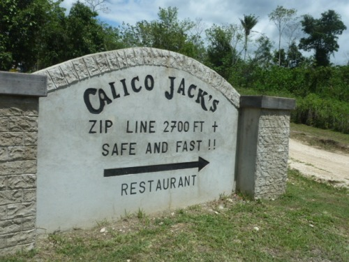 Mike's nearby bush competitor is Calico Jack. Seven Miles Village-area is Zipline and Water-Caving Central in western Belize.