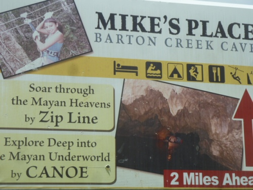 Just down the road from Seven Miles is Mike the Canadian expat's zipline and caving place.