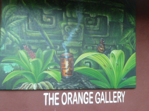Julian's Orange Gallery, a first-class roadside attraction on the Western Highway near San Ignacio, BZ.