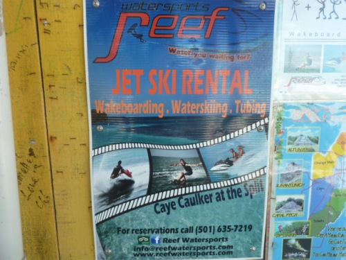 Rented a Jet Ski and sped off into the great blue sea because, well . . . I was just . . . born to be wild.
