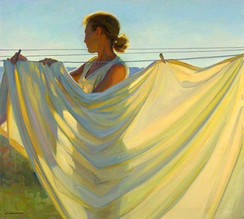 """Yellow and Blue"" by American artist, Jeffrey T. Larson (born 1962)"
