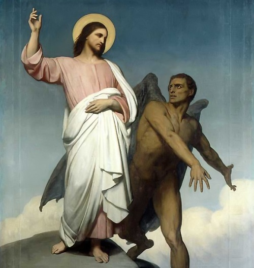 """Temptation of Christ"", by Ary Scheffer, 1854 Jesus resisted the temptation of worldly power, but we find the craving for power very tempting indeed."