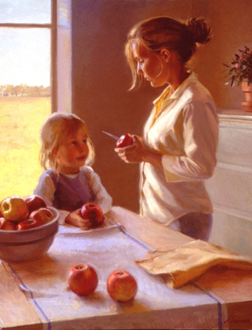"Artist Larson's ""Autumn Apples"""