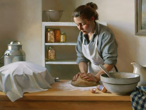 """""""Give Us This Day"""": Oil by Jeffrey T. Larson"""