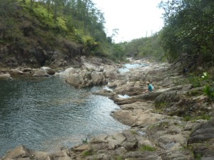 Great swimming holes down from the waterfall at Big Rock, one of my favorite places on earth.