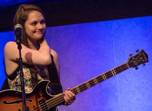 "The peppy New York musician Kate Davis does a great cover of ""All That Bass."""