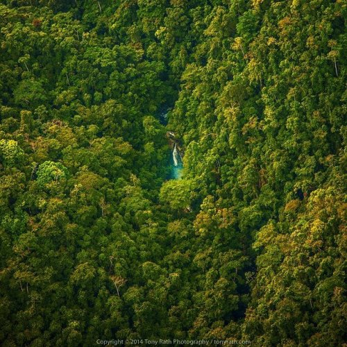 A Tony Rath photo of a waterfall in the Belize's gorgeous Chiquibul Forest, a huge preserve that is home to exotic animals, Mayan ceremonial sites in the many elaborate cave systems and all the wonders that Mother Nature has to offer.