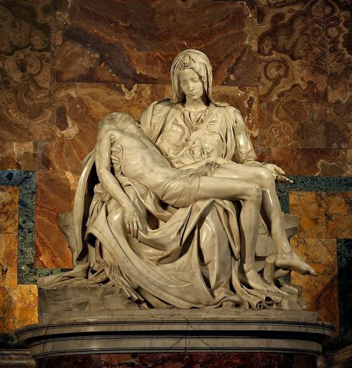 Mother Mary would have been pushing age 50: so what gives with that young face created by Michelangelo here?
