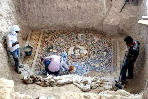 And this ancient mosaic was under water, no less!