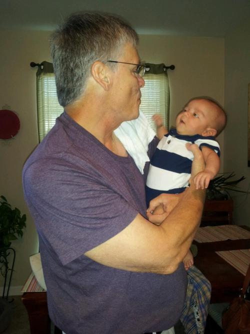 My grandson Rhys at a few months old in 2012, shortly before PawPaw moved to BZ. The downside of life overseas: the fam so far removed.
