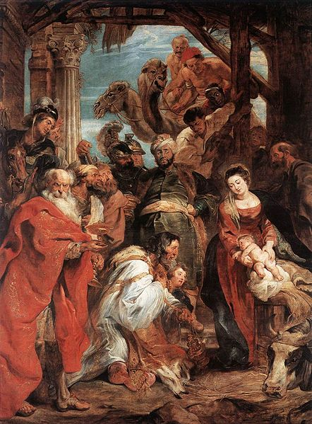 Rubens' Adoration: Today is the day of Epiphany--the revelation of Emmanuel (God With Us) in the church tradition.