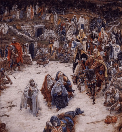 The Holy Season can't be commercialized, trivialized, vulgarized and exploited.  Watercolor by Christian artist James Tissot (1836-1902)
