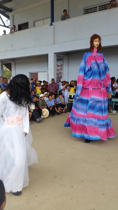 An old legend about a spirit lady in neighboring Santa Elena acted out with dancing.