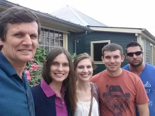 John and his wife Sharon Toth with their family.