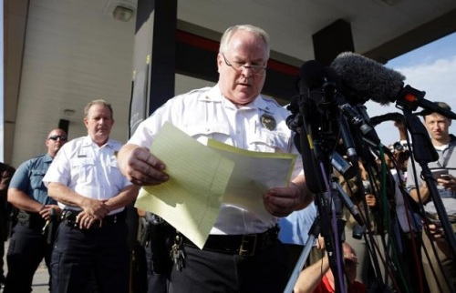 "Pictured: the man who led one of the country's most incompetent, brutal and clearly racist police departments in America. Even at writer at the ultra-conservative ""Red State"" blog has begrudgingly arrived at the conclusion, which could have been discerned the first night that Ferguson P.D. reaction in a military way to what started as clearly peaceful protests in Ferguson."