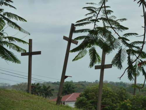 Hilltop outside the Catholic Church, San Ignacio, BZ