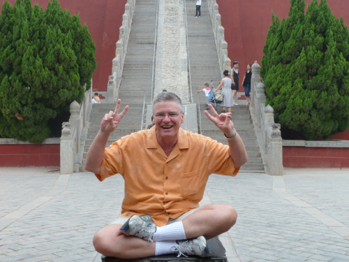 A THROWBACK POSTCARD: Your favorite blogger at some far-flung ancient city somewhere in Central China, ca. 2009