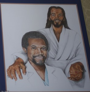 A strange portrait from Dr. Carson's home: two happy guys who got together and are will save the world once and for all.