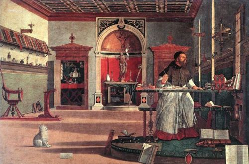 """St. Augustine in His Study"" (also called Vision of St. Augustine) by Italian Renaissance artist Vittore Carpaccio."