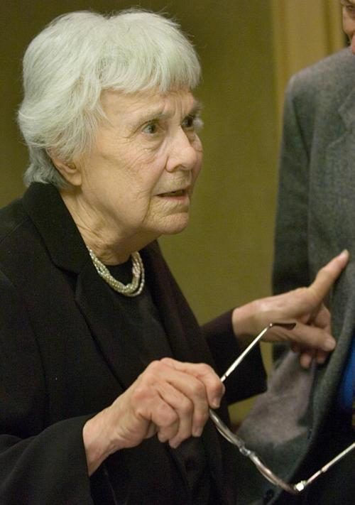 "FILE - In this Jan. 10, 2007 file photo, Pulitzer Prize-winning Alabama author, Harper Lee, appears at the Davis Theater in Montgomery, Ala., for a performance adaptation of her book ""To Kill A Mockingbird,"" by Alabama high school students. Lee, the elusive author of best-seller ""To Kill a Mockingbird,"" died Friday, Feb. 19, 2016, according to her publisher Harper Collins.  She was 89. (AP Photo/Kevin Glackmeyer, File)"