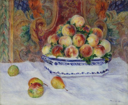 Still Life with Peaches, Renoir,1881