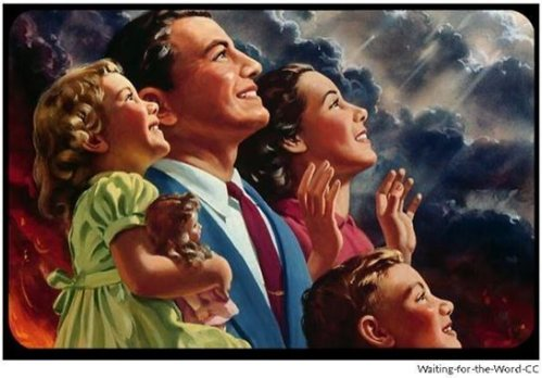 According to LaHaye and Jenkins, the true believers will be raptured up while billions of non- or questionable believers will be targets of a God gone madder than Dirty Harry.